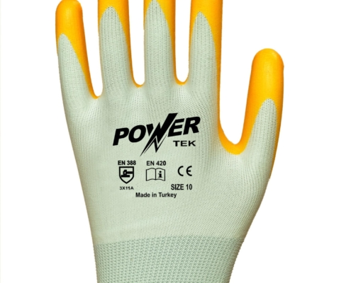 power-tek-sari-beyaz-duz-astarli-nitril-kaplama-pamuk-is-eldiveni