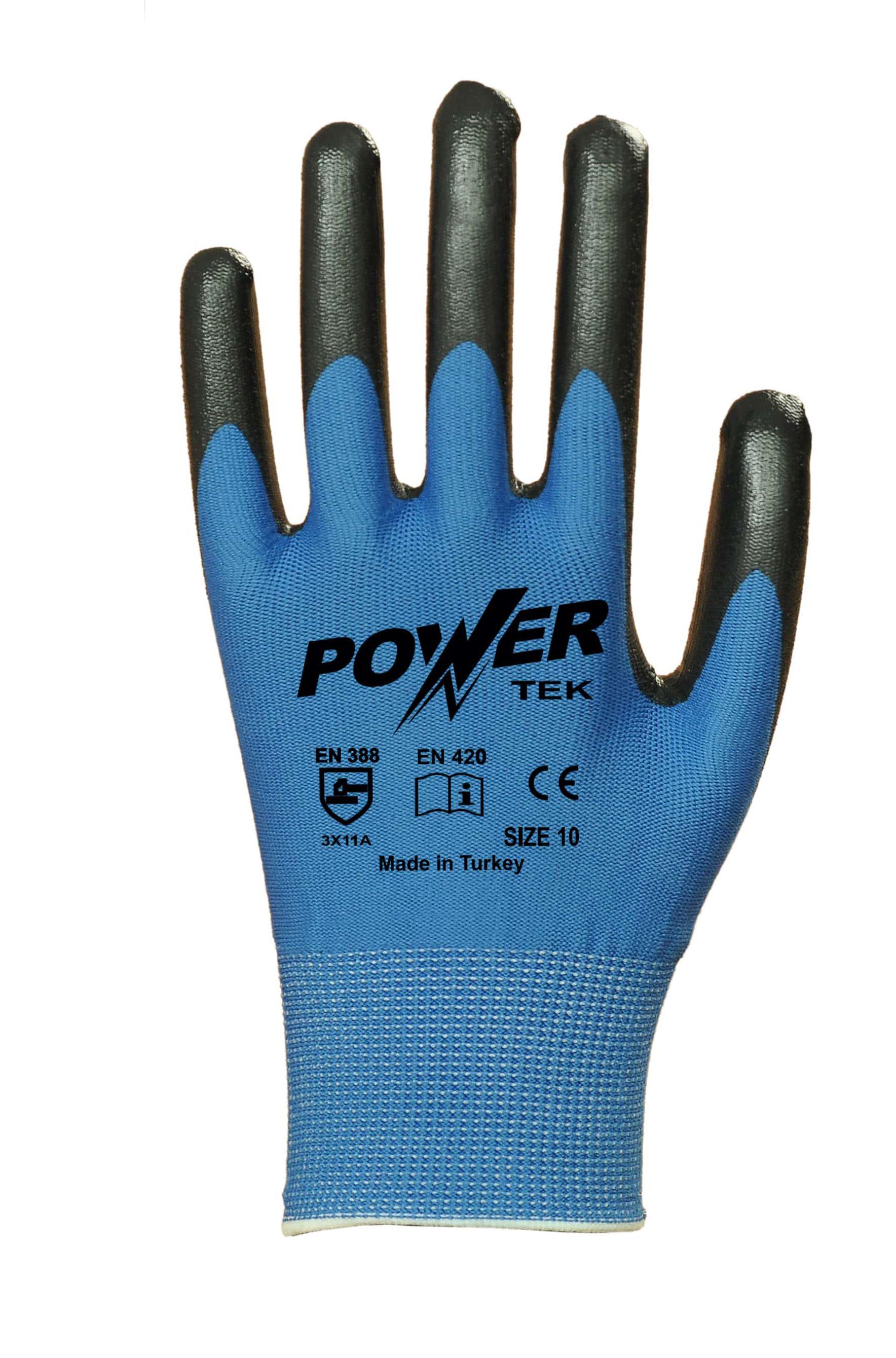 power-tek-siyah-mavi-duz-astarli-nitril-kaplama-pamuk-is-eldiveni