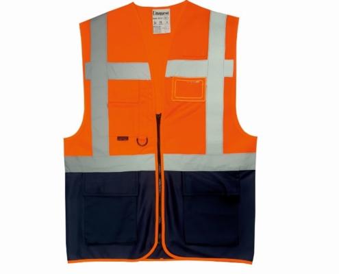 uniwest-UW-112-cift-seritli-yonetici-yelegi-turuncu-lacivert