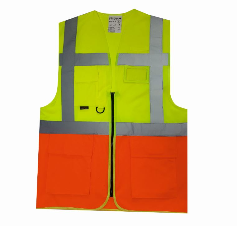 uniwest-UW-213-cift-seritli-yonetici-yelegi-sari-turuncu