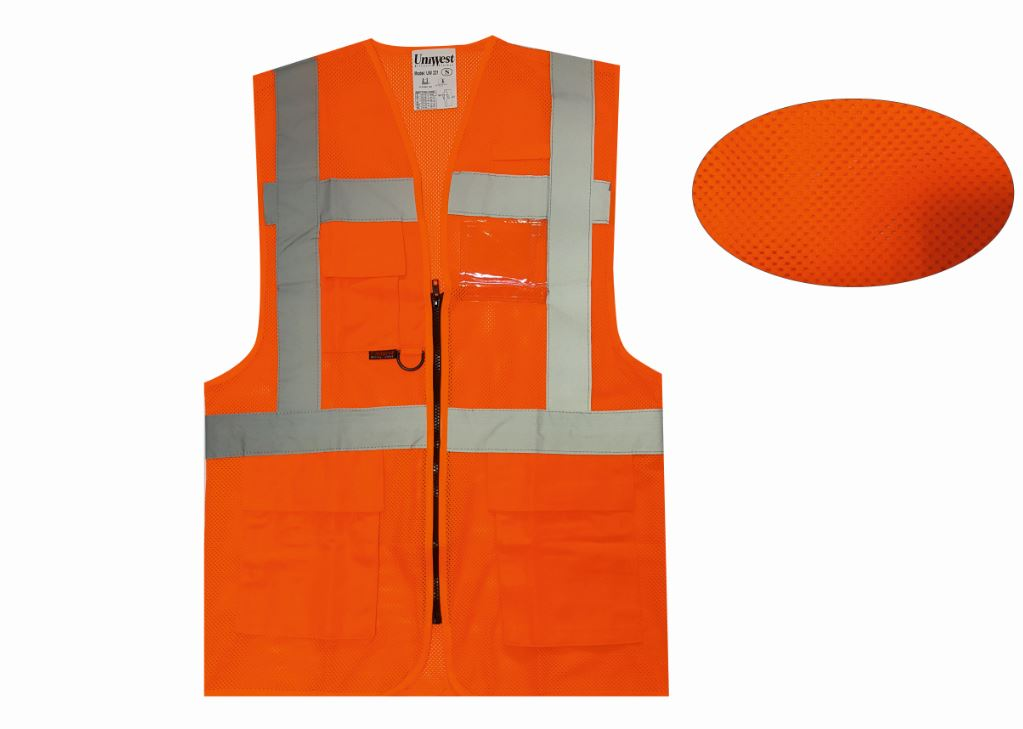 uniwest-UW-221-yonetici-yelegi-turuncu-fileli